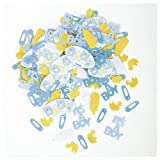 Baby Shower Confetti; Blue Stitches Design