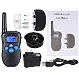 Dog-Training-Collar-Punasi-330-yd-Rechargeable-Rainproof-Remoter-with-Beep-Vibration-and-Shock-Electronic-Electric-Collar-Anti-Dog-Barking