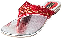 Mamta footwear Womens Red Sandals 36 UK
