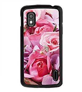 Vizagbeats Pink Roses Back Case Cover for HTC DESIRE 826