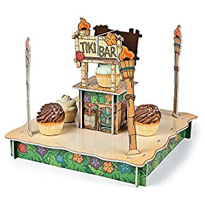 tiki bar cupcake holder foam 18 x 14 1 2