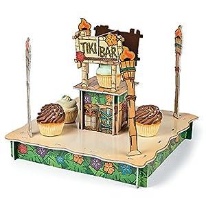 Tiki bar cupcake holder foam 18 x 14 1 2 for Bar decor amazon