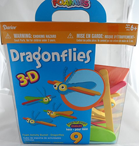 Dragonflies 3-D Foam Craft Kit Bucket - Makes 9 Colorful Dragonflies