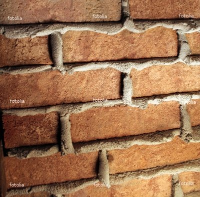 "Wallmonkeys Peel and Stick Wall Graphic - Brick Wall with Seeping Concrete - 24""W x 24""H"
