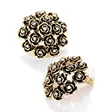 Flower Pierced Fashion Earrings Burnt Goldby Minerva Collection