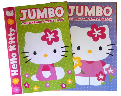 Hello Kitty Jumbo Kids Coloring and Activity Book Set (Set of 2) - 1