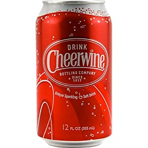 Cheerwine Cherry Soda - 12 oz Can: Case of 24 Cans