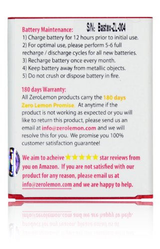 ZeroLemon 2300mAh Battery (For Samsung Galaxy S3 I9300)
