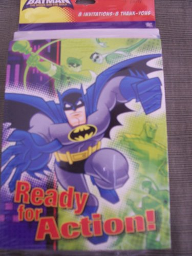 Batman - The Bold & the Brave - Set of 8 Party Invitations & Thank You's by Hallmark Party