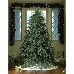 #!Cheap 7.5' Hunter, Prelit Artificial Christmas Tree, 850 Clear Lamps