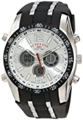 U.S. Polo Assn. Men's US9061 Black Rubber Strap Analog Watch