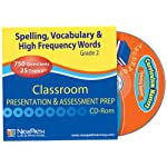 NewPath Learning Mastering Spelling, Vocabulary and High Frequency Words Interactive Whiteboard CD-ROM, Site License, Grade 2