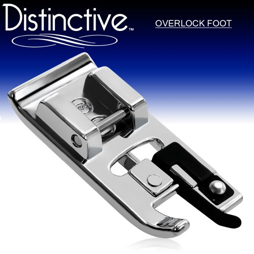 Distinctive Overlock Overcast Sewing Machine Presser Foot - Fits All Low Shank Snap-On Singer*, Brother, Babylock, Euro-Pro, Janome, Kenmore, White, Juki, New Home, Simplicity, Elna and More! (Brother Overcast Foot compare prices)