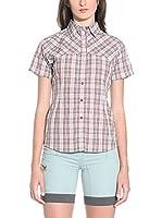 Salewa Camisa Mujer Sira Dry Am W (Marrón / Frambuesa)