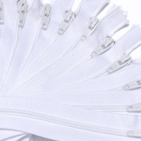 """Review 7"""" Nylon Coil Zippers Special ~ Closed Bottom ~ 501 White (12 Zippers / Pack)"""