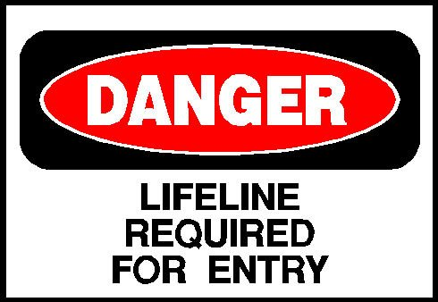 7x10-lifeline-danger-warning-aluminum-sign