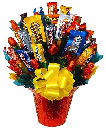 Snack Bar chocolate candy gift bouquet – Medium