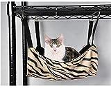 Zebra Cat Hammock Cat Crib Sleeping Bag Kitty Cot (Zebra, M)
