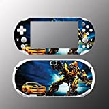 Transformers Bumblebee Movie Video Game Vinyl Decal Sticker Cover Skin Protector Sony Playstation PS Vita Slim PCH 2000 2001 2002 2003 Console System