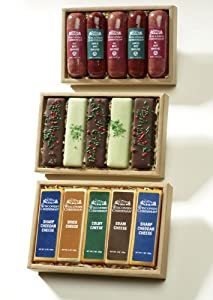 Wisconsin Cheeseman Favorite Five Food Gifts Cheese Bars 10-oz. Net Wt.