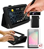 Google Nexus 7 Tablet Case - G-HUB PropUp BLACK Stand Case Cover with integrated stand function and magnetic sleep sensors (Fits all Nexus 7 versions - 8GB, 16GB, 32GB Wi-Fi & HSPA+). With 2 x Screen Guards Included & BONUS: G-HUB ProPen Stylus