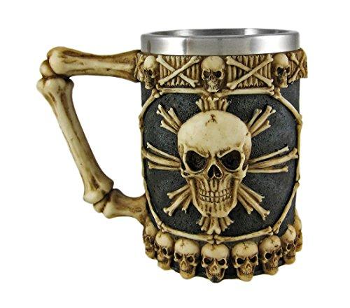 Things2Die4 Cool Ossuary Skull Beer Stein Tankard Skulls