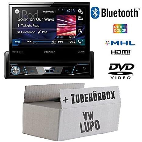 VW Lupo-Pioneer avh-x2600bt X7800bt-1DIN de 7pouces USB Bluetooth DVD-Autoradio-Kit de montage