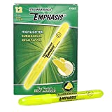 Ticonderoga Emphasis Fluorescent Highlighters, Desk Style, Chisel Tip, Yellow, One Dozen (47065)