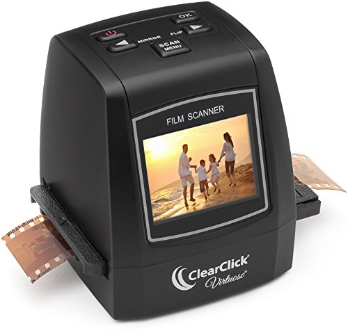 ClearClick 22MP Virtuoso Film & Slide Scanner with PhotoPad Software & 8 GB Memory Card - Convert 35mm, 110, 126, & Super 8 Film To Digital (Best Slide Scanner compare prices)