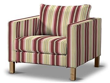 FRANC-TEXTIL 619-141-12 Karlstad sillón funda, funda sillón, Karlstad sillón, Mirella, burdeos/beige