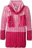Derek Heart Big Girls' Long Sleeve Marled Sweater Tunic with Scarf