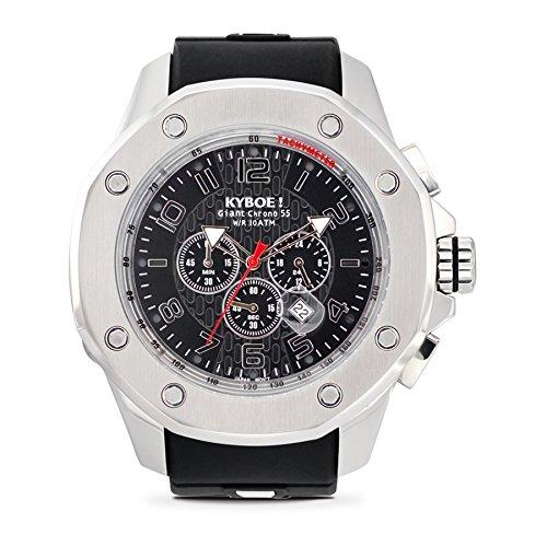 Kyboe. Reloj de pulsera para hombre analógico cuarzo silicona negro kps-55-001