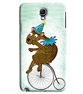 Blue Throat Animal On Bicycle Printed Designer Back Cover/ Case For Samsung Galaxy Note 3 Neo