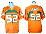 Mens No.52 Ray Lewis College Football Jersey 2016-2017 New