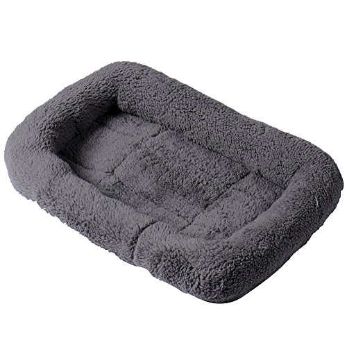 VLUNT Cashmere Pet Indoor Padded Bolster House Bed Sleeping Cushion Pet Mat Nest for Cats and Small Dogs