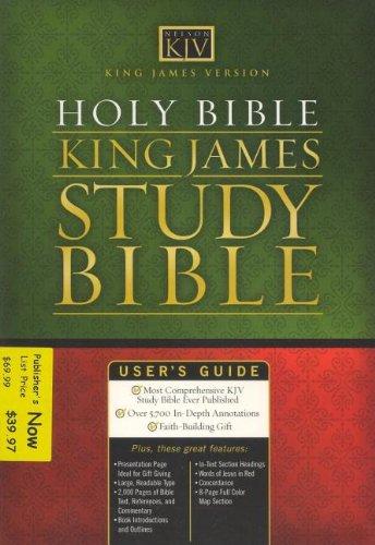 Holy Bible King James Version Study Bible (Burgundy)