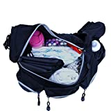 Baby Infant Mom / Dad Diaper Messenger Bag Purse (for Mommy & Daddy + Infant Changing Mat. By Luliey