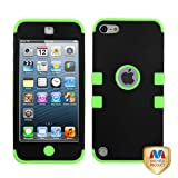 MyBat Rubberized Black/Electric Green TUFF Hybrid Protector Cover for iPod touch 5