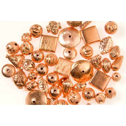 Shiny Copper Bali Style Bead Assortment - 2 Ounce Bag