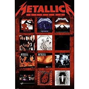 (24x36) Metallica (Album Covers) Music Poster Print