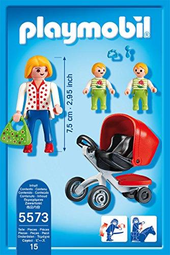 Playmobil - Life, mamá y carrito de gemelos (5573)