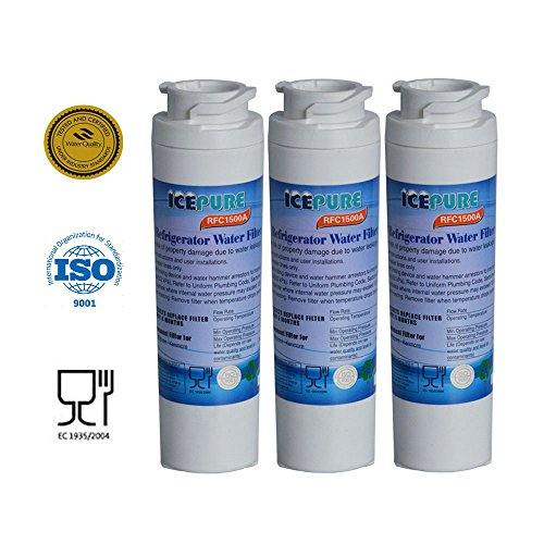 3 - Pack IcePure Water Filter to Replace GE, Hotpoint, Kenmore, Maytag, Jenn-Air, GE MSWF, MSWF3PK, MSWFDS, 101820A, 101821-B, 101821B, 238C2334P003, AP3997949, PC46783, PS1559689, WR02X12345, WR02X12801, RWF1062, WF-282, WF282, WSG-3. (Ge Wf Refrigerator Water Filter compare prices)