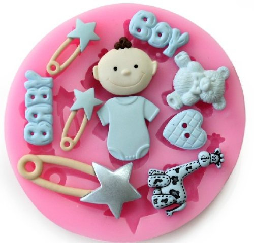 Allforhome Mini Baby Series Silicone Fondant Mold Candy Mold Cake Decorating Molds Craft Moulds front-715056