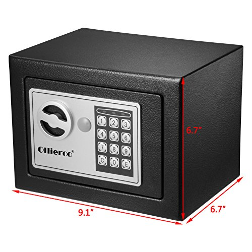 Ollieroo 0 3 cf digital electronic keypad lock small safe for Small safe box for home