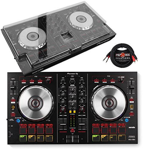 Pioneer DDJ-SB2 Performance DJ Controller & DeckSaver Polycarbonate Protective Cover w/ Pig Hog Cable (Control Dj Pioneer compare prices)
