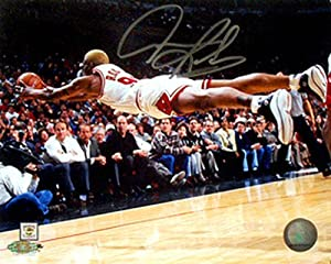 Dennis Rodman Autographed Signed 16x20 Chicago Bulls Dive Photo
