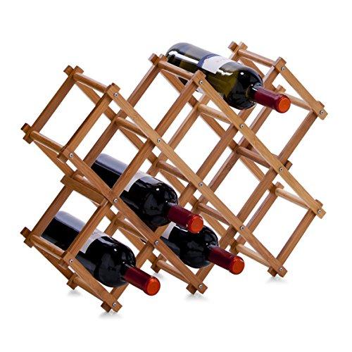 zeller-2056807-bamboo-casier-a-bouteilles-multicolore-54-x-145-x-38-cm