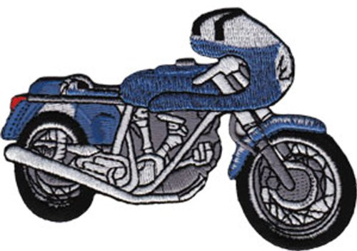 Application Blue Cafe Racer Patch - 1