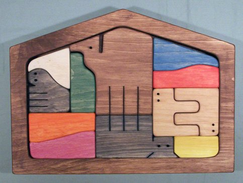 Wooden Framed Puzzle - NATIVITY SCENE SET - Colored Components