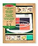 Wooden Baby Farm Animals Stamp Set